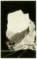 Yale Tunnel, Canadian National (SwellMap) Tags: postcard vintage retro pc 30s 40s 50s 60s thirties forties sixties fifties roadside midcentury atomicage nostalgia americana advertising coldwar artdeco linen design style architecture building
