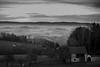 into the country look (Rudolf Mühlböck) Tags: winter winterlandschaft österreich landschaft landscape stimmung mood fog nebel blackwhite schwarzweis perspektive fujixt1 fujix