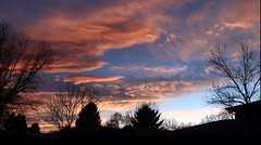 December 29, 2017 - Stunning sunset with wave clouds. (Dave Larison)