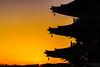 Sunrise at a pagoda (aotaro) Tags: morning sunrise airplane kanagawa kawasaki sal70300g morninglight ilce7m2 sky afivestorypagoda temple japan