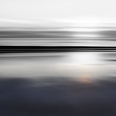 Black Coast (Bruus UK) Tags: blackwhite black coast beach mono blur motion ocean atlantic coastal marine sand tide reflection sunset dusk cornwall evening space alone sky darjness dark