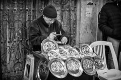 Metalwork (GavinZ) Tags: northafrica tunis tunisia travel blackandwhite bnw bw street metalwrok plate medina