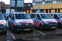 Dutch police Transporter line-up (Dutch emergency photos) Tags: politie police polizei polici policia politi polis volkswagemn volkswagen transporter 6 5 t5 t6 vw amsterdam nederland netherlands nederlands nederlandse emergency vehicle van bus auto 999 911 112