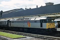 47287 Chester 120889 (24082CH) Tags: 47287 class47 railfreightgrey brushtype4 chester train railroad