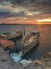 Loneliness (dajethy) Tags: dajeth cagliari cagliarifoto canon barca sea seaendsky sunset landscape alba nisifilter nisi dajethyregistered 596 64 12