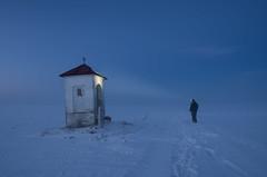Chapel (Mirek Pruchnicki) Tags: pruchnicki żurawica województwopodkarpackie polska winter chapel night men dawn