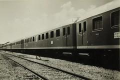 Israel Railways - Jerusalem train station in 1955 - New Orenstein & Koppel (Berlin) passenger coaches for Israel (HISTORICAL RAILWAY IMAGES) Tags: train israel railways jerusalem station רכבת ישראל isr