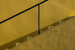 'A step in the wrong direction ... ' (Canadapt) Tags: stairs steps railing wall shadow praiagrande portugal canadapt