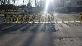 Citybikes arriving