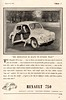 1951 Renault 750 CV4 Sedan English Original Magazine Advertisment (Darren Marlow) Tags: 1 9 5 19 51 1951 r renault 7 50 75 750 c v 4 cv4 sedan collectors cool classic collectible french car vehicle automobile 50s