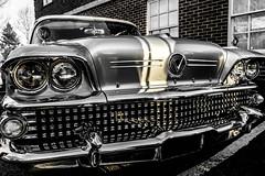 Metal Head (NVOXVII) Tags: buick chrome metal nearbnw carclassic americancar vintage meaty nikon closeup headlights iconic romsey hampshire