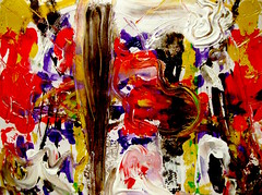 Festal Movement In Honor Of Cappadocian Giants (giveawayboy) Tags: ballpoint pen drawing sketch art acrylic paint painting fch tampa artist giveawayboy billrogers festal movement cappadocian giants basil gregory