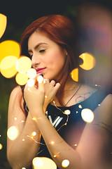 Stephanie (Bruno Scramgnon) Tags: woman fashion girl sexy redhead fairylight naturallight brunoscramgnonfotografia dreamlike bokeh riodejaneiro lights sunset
