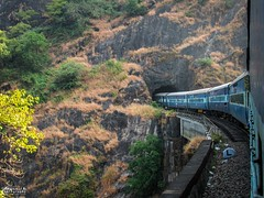 Into the dark hole (mohammedali47) Tags: caranzol karnataka indianrailways konkanrailway amaravatiexpress locomotive trains viaducts railfanning