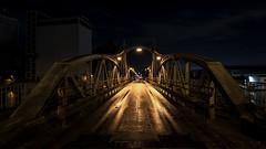 the bridge... (st.weber71) Tags: nikon nrw niederrhein nachts nightshot nightlights nacht nachtfotografie nachtaufnahme night deutschland germany d850 beleuchtung brücke brücken rheinland rhein hafen langzeitbelichtung lzb lichter licht himmel nachthimmel nachtaufnahmen nachtfotos architektur lampen