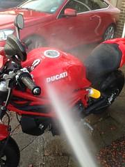 Wash Time! (TRACshovel) Tags: carwax angelwaxqeddetailingspray autoglymsrp detailing angelwaxguardian angelwax motorbike motorcycle 797 ducati