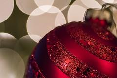 Decorations (Kevin Tataryn) Tags: nikon d500 tokina 100mm macro red decoration glitter christmas bokeh dof shallow