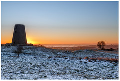 Sunrise view. (malcbawn) Tags: mill frosty sunrise winter southtyneside frost cleadonhills northsea snow