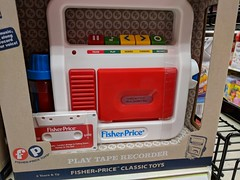 Does Not Play Real Cassettes (earthdog) Tags: 2017 pixel googlepixel toy store shopping target fisherprice tapeplayer cassetteplayer androidapp moblog cameraphone