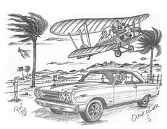 Quicksilver 3 (rod1691) Tags: myart art sketchbook bw scifi grey concept custom car retro space hotrod drawing pencil h2 hb original story fantasy funny tale automotive illistration greyscale moonpies sketch sexy
