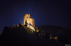When the Ruins Come Alive. (_Anathemus_) Tags: castle corfe night long exposure dorset england uk medieval ruins middle ages nikon d750