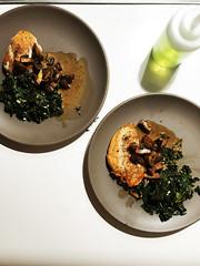 (Dana L. Brown) Tags: mushroom chicken kale cooking provide heathceramics