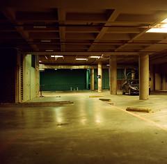 San Jose (bior) Tags: sanjose downtownsanjose santaclarastreet night longexposure kowasix kowa6 kowa kodakfilm portra160vc kodakportra mediumformat 120 6x6cm parkinggarage underground