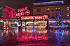 Christmas Lights At Pike Market (Paul Scearce) Tags: seattle pikemarket pikeplacemarket seattlewa christmas nightlights nightphotography market reflections puddlereflection rain