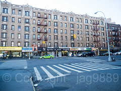 Intersection of Nagle Avenue and Thayer Street, Fort George, New York City (jag9889) Tags: 2017 20171125 architecture auto automobile barber brigadiergeneralsylvanusthayer building car crosswalk fatherofwestpoint fortgeorge house intersection jannagle lamppost manhattan ny nyc nagleavenue newyork newyorkcity oneway outdoor road sign street text thayerstreet transportation usa unionplace unitedstates unitedstatesofamerica uppermanhattan vehicle wahi washingtonheights jag9889