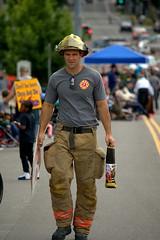 Fireman (swong95765) Tags: guy man fireman handsome parade gear