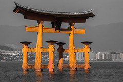 O-Torii gate, Miyajima (sklachkov) Tags: miyajima sea gate torii itsukushima
