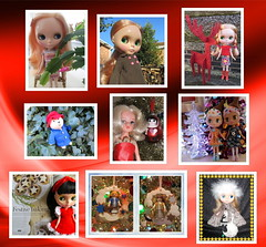 Doll & Bear ABC Christmas challenge collage