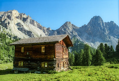 Two Story Fixer Upper in the Alps (rocinante11) Tags: dolomites dolomiti italy italia house green rustic old