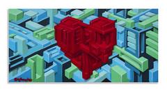 heart (Greg Rohan) Tags: redrules smileonsaturday redheart colour red heart artwork artist art arte paintedwalls paintedstreetwalls paintedstreetart streetart bondi bondibeach sydney d750 2017 geometric nikkor nikon