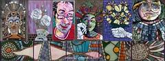 Gila Mosaics Studio (Gila Mosaics n'stuff) Tags: gilamosaics portrait art mosaic compilation jkpp portraitparty flowers hand picassiette