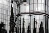 Fassadenspiegelei (Rubina V.) Tags: fenster monochrom reflexionen wien häuser reflection window vienna house