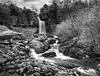 Thornton Force 1 (G V Fennell) Tags: autumn ingleton landscape mono panorama rocks thorntonforce trees water waterfalls yorkshire yorkshiredales greatclacton essex uk