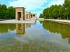 The Debod Temple (Sandra Leidholdt) Tags: sandraleidholdt europe spain madrid debod temple debodtemple egyptian reflectingpool water