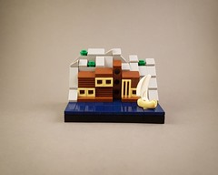 Micro Wooden Villa by the Sea MOC I (betweenbrickwalls) Tags: lego afol design legos architecture legoarchitecture contemporary modern house building home woodenhouse villa sea seaside microscale sailing summer water