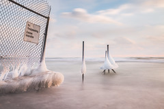 forbidden entry (Marc McDermott) Tags: winter ice fence hff friday lakeontario canada ontario beach longexposure sky clouds frozen cold sign