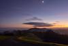 Misty Malvern Dusk (Gwenael B) Tags: malvern dusk mist hills uk england worcestershire landscape moon path sunset light scenic wideangle nikond5200 tokinaaf1120mmf28 nightfall countryside