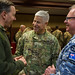 Eighth Army deputy commanding general interacts with international leaders during the Eighth Army change of command