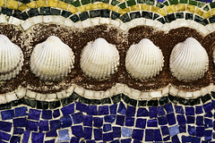 Mosaic shell detail (Thad Zajdowicz) Tags: canon zajdowicz eos 5d3 5dmarkiii dslr digital availablelight art detail closeup color blue white brown yellow green colour shells abstract pacificpailisades california usa travel ef24105mmf4lisusm