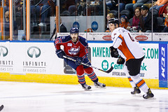 "Kansas City Mavericks vs. Kalamazoo Wings, January 5, 2018, Silverstein Eye Centers Arena, Independence, Missouri.  Photo: © John Howe / Howe Creative Photography, all rights reserved 2018. • <a style=""font-size:0.8em;"" href=""http://www.flickr.com/photos/134016632@N02/38681945905/"" target=""_blank"">View on Flickr</a>"