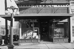 Raycraft Drugstore 112 W Washington Monticello IL abt 1947 (RLWisegarver) Tags: piatt county history monticello illinois usa il