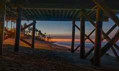 Sandy Sunrise (tquist24) Tags: california hdr nikon nikond5300 pacificocean sanclemente sanclementepier beach clouds geotagged longexposure morning ocean palmtree palmtrees pier sand sky sunrise water unitedstates