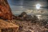 If the Moon had an Ocean (Michael F. Nyiri) Tags: pelicancove palosverdespeninsulacalifornia southerncalifornia ocean pacificocean rocks rockyshore clouds sunset