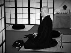 Zazen meditation (S. Mel photo) Tags: 300mm sigma canon zen meditation oriental monocrome
