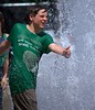 Water Slapping (swong95765) Tags: kid boy guy water fountain wet fun play slap hedgehog