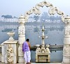 The divine entrance (somabiswas) Tags: jalmahal worship temple lamp rajgir bihar india saariysqualitypictures